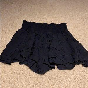 black high waisted brandy melville skort shorts